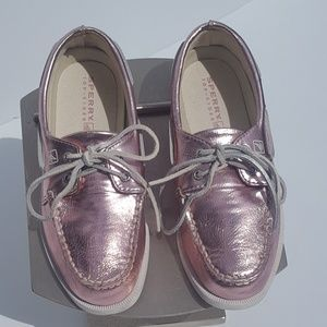Girls Sperry Top-Sider (2.5 m) Rose Gold